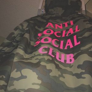 A Large Anti Social Club windbreaker jacket